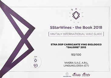 5 Star Wines Vinitaly Salisire 2013
